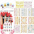 2015 NEW 50PCS/lot 3D K080-101 Manicure 3D sticker Manicure special cute cartoon duck animal dog cat