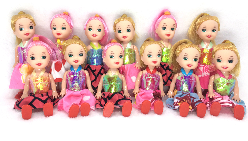 NK One Pcs Randomly  10cm Mini Kelly Doll With Clothes Shoes Girls'  Cute Dolls Fashion Dolls Best Gift For Children Baby Toys сумка fendi peekaboo mini kelly