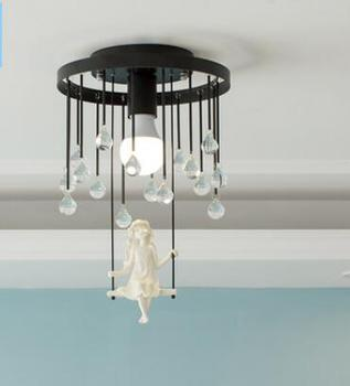nordic bedroom ceiling lamp simple modern warm girl princess lamp