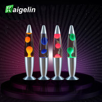 Kaigelin Novelty Lava Lamp 25W LED Night Light High Quality Alloy Shape LED Office Table Lamp