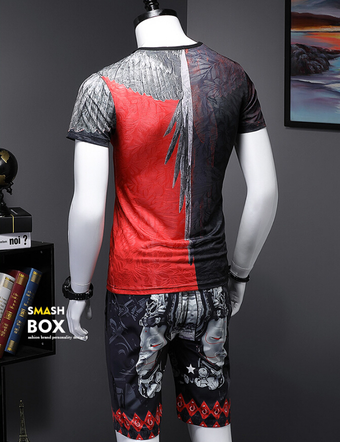 Thai style new fashion man 2 pcs suit 2019 Leisure Ice cotton Short sleeved tracksuit thin Summer s984-in Men's Sets from Men's Clothing on Aliexpress.com | Alibaba Group 4