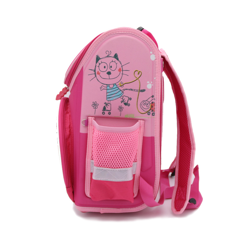 New 2016 Cartoon Cat Print Backpacks Girls Pink School Bags ...