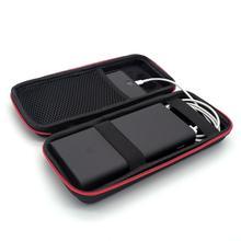 Banco de potência eva difícil caso de viagem para xiaomi power bank 3 pro 20000 mah carregador portátil bolsa de transporte saco de bateria externa