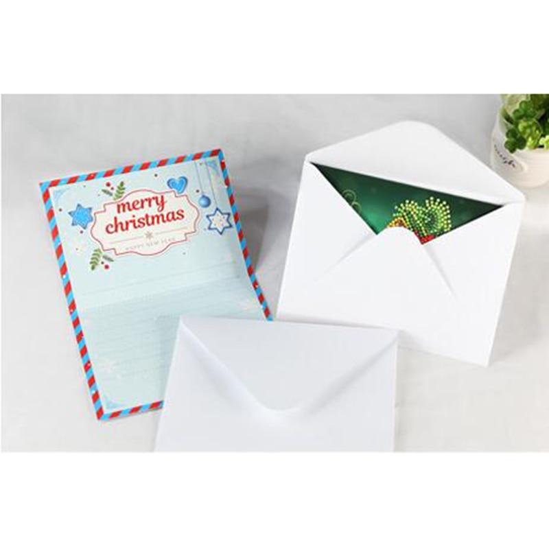 8pcs 5D DIY Diamond Painting Cartoon Paper Greeting Postcards Craft Kids Festival Greet Cards Mini Santa Claus Merry Christmas