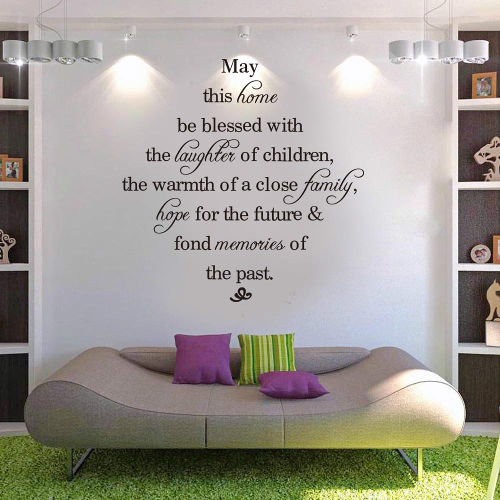 May this home be blessed quote wall sticker vinyl decal home room may this home be blessed quote wall sticker vinyl decal home room decor wedding living room decorative mura words in wall stickers from home garden on amipublicfo Gallery