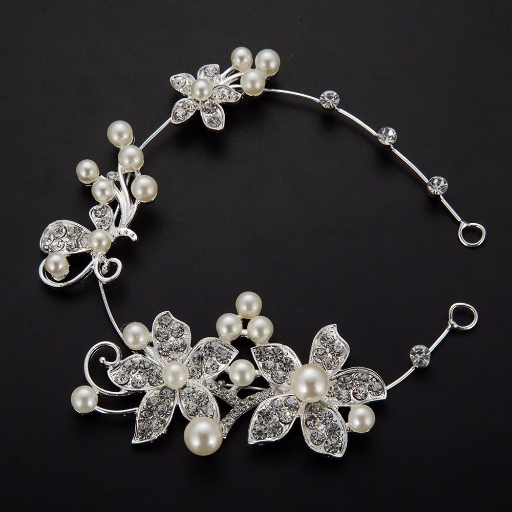 HTB1NTdfOpXXXXbpaXXXq6xXFXXXA Luxury Silver Rhinestone Pearl Jewel Flower Hair Accessory For Women