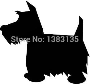 Wholesale 50 pcs/lot Scottish Terrier Dog Scottie Cute Puppy Graphic Car Sticker For Truck Window Door Vinyl Decal 9 Colors 4 cute anti skidding pet shoes for puppy dog deep pink 4 pcs