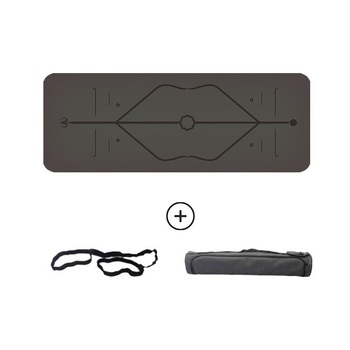 183cm * 68cm Natural rubber pad PU non-slip yoga mat Sculpture body line Assisted yoga practice mat Sports mat flat support pad