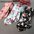 Mantieqingway Floral Ties For Men Skinny Mens Ties Gravatas Slim Corbatas Vestidos Wedding Cotton Groom Neck Tie Cravat Necktie