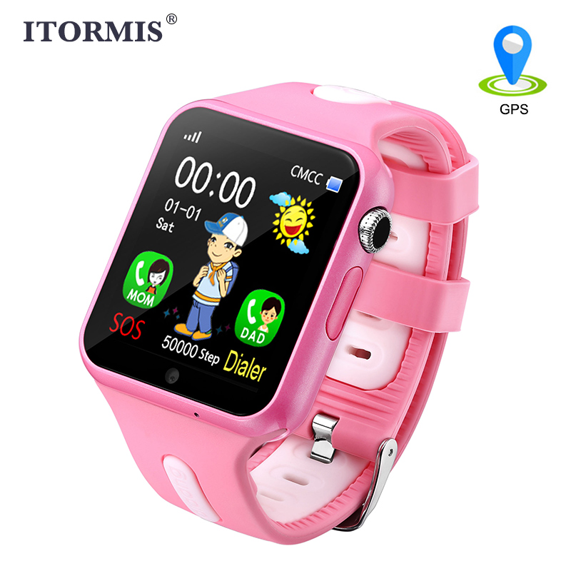ITORMIS дети gps отслеживание Смарт часы Smart детские часы телефон Smartwatch для детей расположение Водонепроницаемый Сенсорный экран PK Q50 Q90