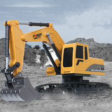 Hot Sell 2.4Ghz 6CH 1:24 RC Excavator Mini Truck Rechargeable Simulated Gift Toy for Kids