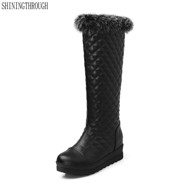 2018 New stivali sexy pelliccia delle donne stivali New alti al ginocchio 3d0139