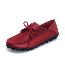 New Arrival Fashion Women Flats Shoes Top Quality Genuine Leather Women Shoes Solid Color Casual Short Push Ladies Winter Shoes