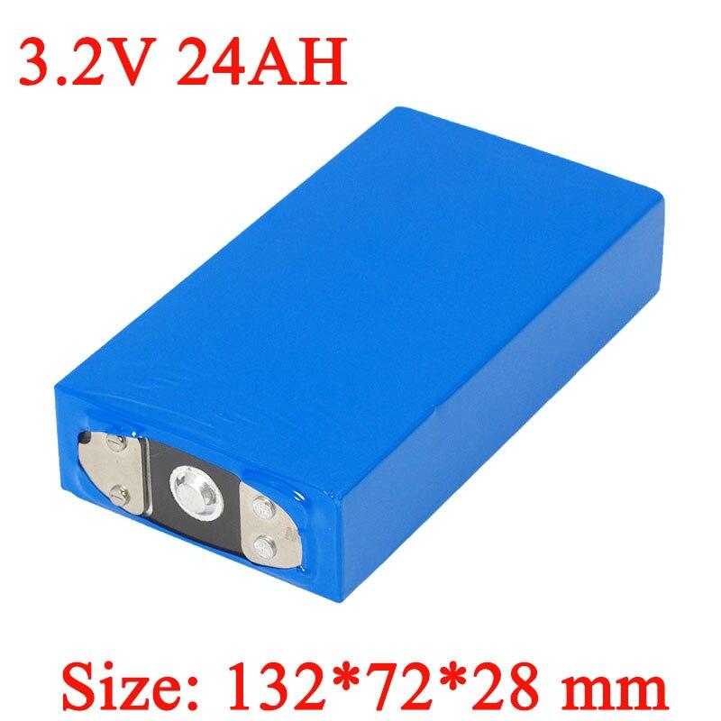 3.2 V 24Ah batterie pack LiFePO4 phosphate grande capacité 24000 mAh moto voiture électrique moteur batteries modification