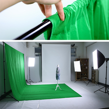New Photo studio vedio photography 1.8m x 3m Photo Studio Solid Muslin Backdrop Background Green chromakey PSB3C chroma key