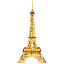 Wooden Model Little Eiffel Towwer Assembly Kit Toys for Children Learning & Educational Handmade 25Pcs Jigsaw Puzzle Funny Gift