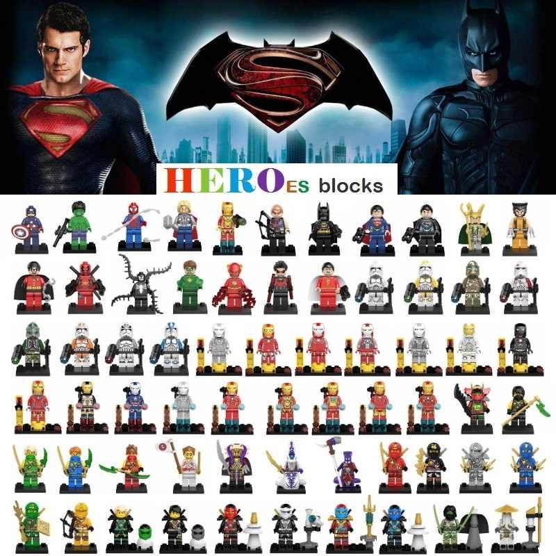 Шт. 1 шт. Мстители супер герой строительные блоки рисунок кирпич Звездные войны игрушка малыш подарок Совместимость Legoed Ninjaed Дарт Вейдер Бэтмен танос