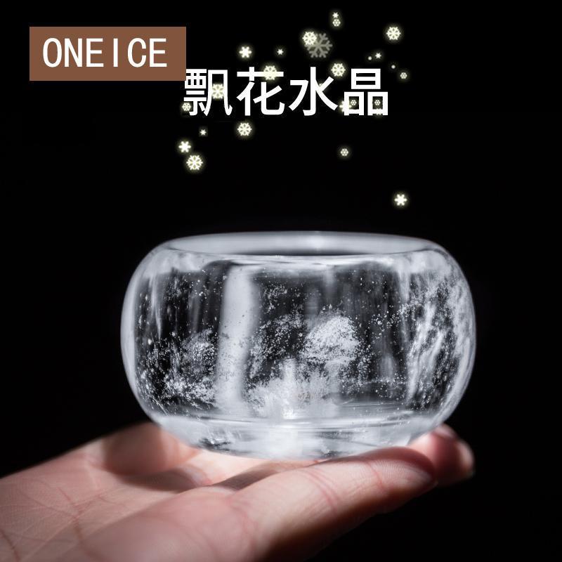 Tasse personnelle maître épaissir grand verre unique Set Kung Fu thé tasses petit cristal naturel
