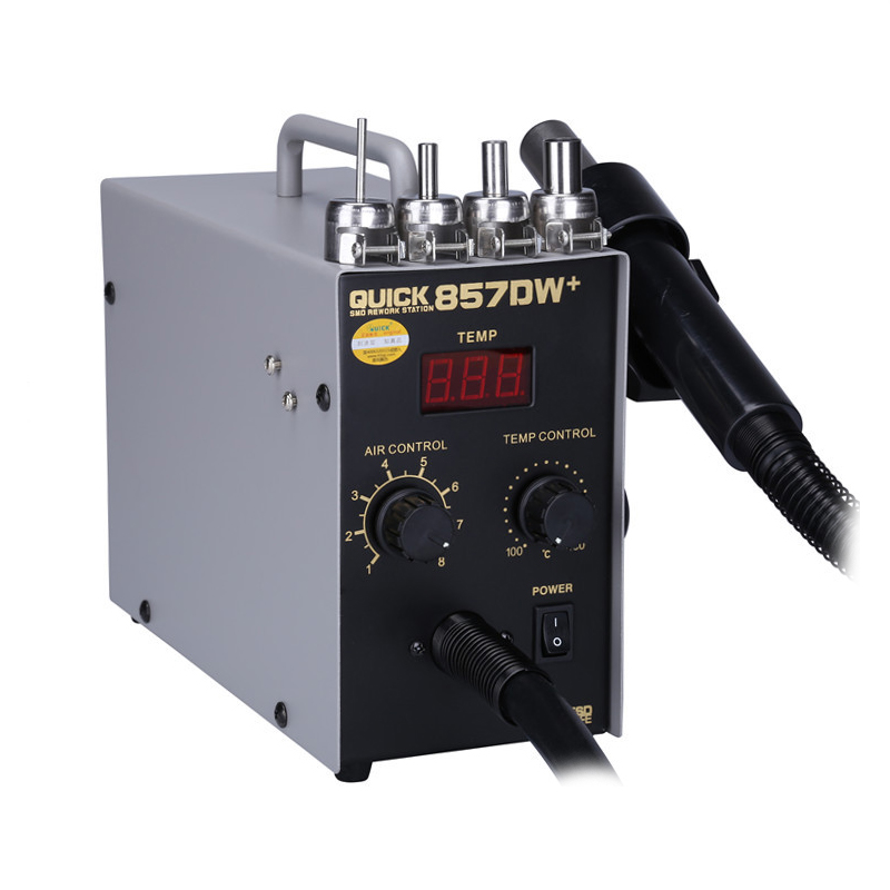 Station de pistolet à Air chaud QUICK 857DW + 580W avec Station de reprise de chauffage Bga Station de soudure de reprise SMD