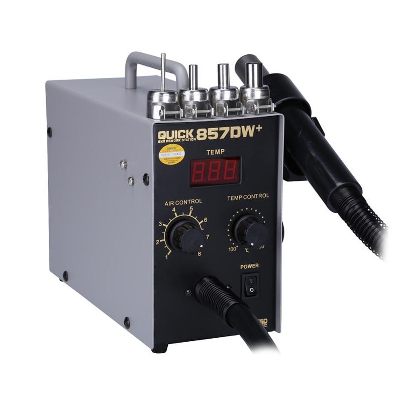Быстрая 857DW + 580W Горячая воздушная пушка станция с нагревателем Bga паяльная станция SMD паяльная станция