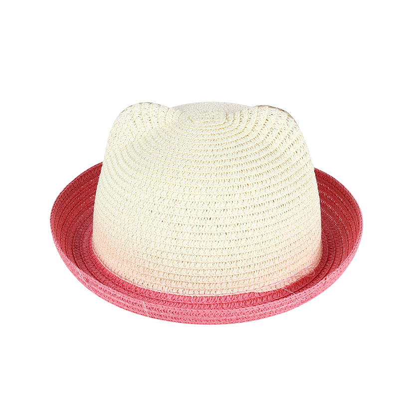 581b73e4d US $3.48 20% OFF|Children's Hat Summer Girls Panama Hat Cartoon Kitty Straw  Cap For Boys Baby Sun Hip Hop Hats Caps-in Hats & Caps from Mother & Kids  ...