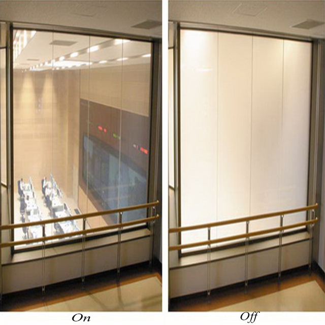 100cmPDLC Switchable film power on transparent power off opaque privacy protection for room partition