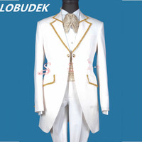 2015 Male Costume Fashion Costume Dovetail Male Slim Formal Dress Wedding Long Customize Design Suits For