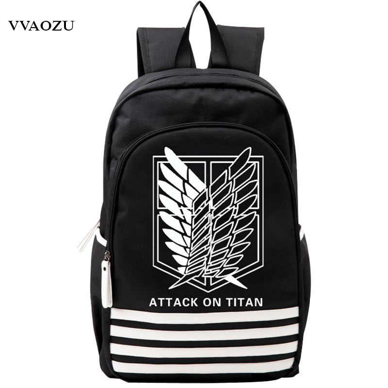 Shingeki no Kyojin Scouting Legion Oxford Schoolbag Attack on Titan Japan Anime Cosplay Backpack Shoulders Bag for Students Gift купить недорого в Москве