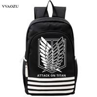 Shingeki No Kyojin Scouting Legion Oxford Schoolbag Attack On Titan Japan Anime Cosplay Backpack Shoulders Bag