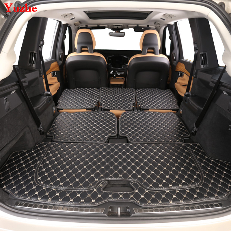 Yuzhe Custom Car Trunk Mat For Volvo XC60 XC90 2017 2018 S60 S80 V40 Cargo Liner Interior Accessories Carpet Car Styling