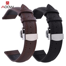 AOOW Leather Watchband Men Women Watch Band 24mm 22mm 20mm 18mm 16mm 14mm 12mm Wrist Watch Strap Belt Watchbands Bracelet цены онлайн