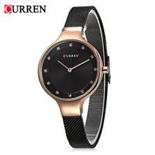 лучшая цена CURREN 9008 Women Watch New Quartz Top Brand Luxury Fashion Wristwatches Ladies Gift Relogio Feminino Not In Love After 15 Days?