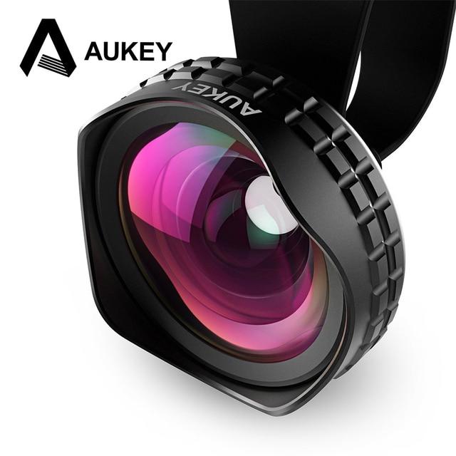 Światłowodowe AUKEY Pro Obiektyw 18 MM HD Szeroki Kąt Kamery Telefonu komórkowego Lens Kit 2X Więcej Krajobraz dla iPhone Samsung HTC i innych Smarphones