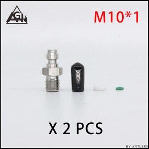 Image 5 - 8MM Stecker Adapter Armaturen PCP Airsoft Paintball Pneumatische Schnelle Koppler Füllung Nippel Männlich weibliche 1/8 BSP 1/8 NPT M10 * 1X2 PCS