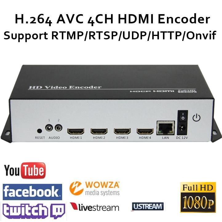 Codificador de transmisión HDMI H.264 codificador de video HDMI - Audio y video casero