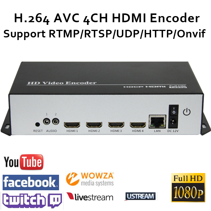 H.264 HDMI Video Encoder Streaming Encoder HDMI Sender Live Broadcast - Heim-Audio und Video