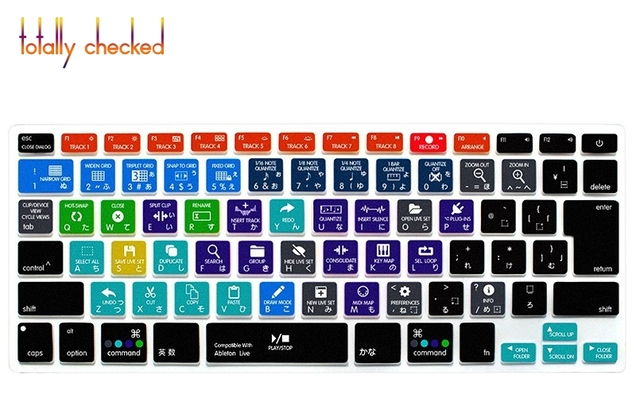 on sale 0d6cb bed30 Japanese Ableton Live Function Shortcuts Silicone Keyboard Cover Skin  Protector For Macbook Air Pro Retina 13