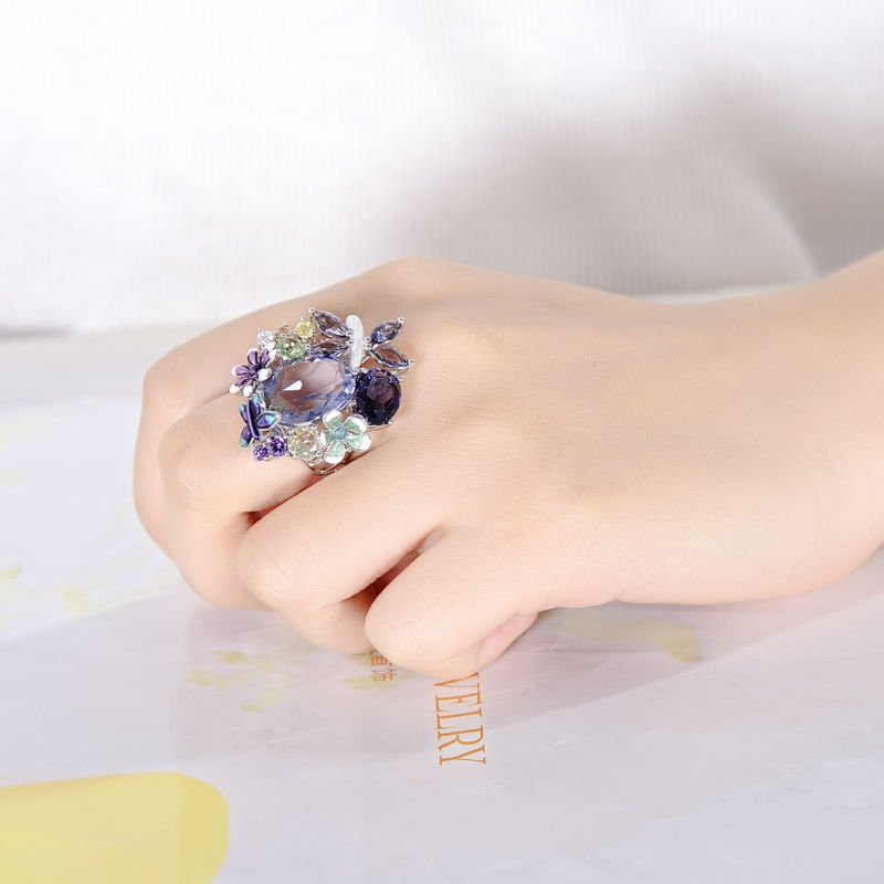 Image 5 - SANTUZZA Silver Ring For Women Pure 925 Sterling Silver Brilliant