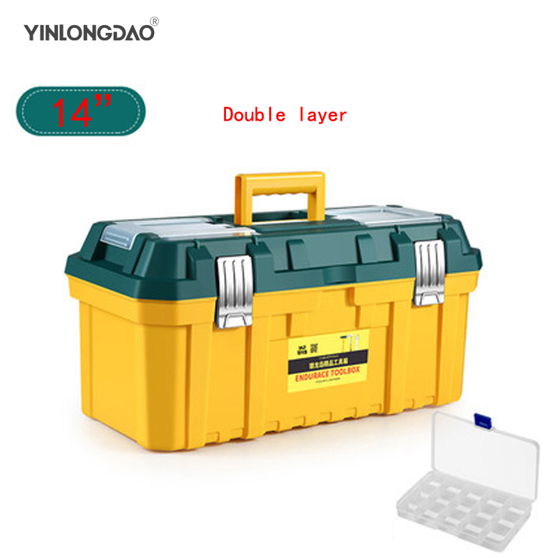 14/18/20 Inch Hardware Household Plastic Large Small Medium Portable Multifunction Maintenance Car Box Storage Box Toolbox
