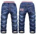 SK078 2015 Детей джинсы детская одежда зима толстые мальчик/девушки длинные джинсы мальчиков ковбойские брюки дети брюки розничные продажи
