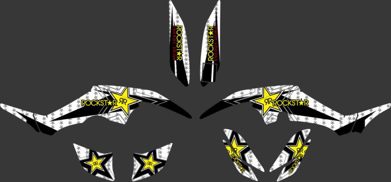 0335 Star New Style DECALS STICKERS Graphics Kits FIT for Yamaha RAPTOR 350 ATV Raptor350