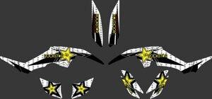 0335 Звездные наклейки, новый стиль, наклейки, графические наборы, подходят для Yamaha RAPTOR 350 ATV Raptor350
