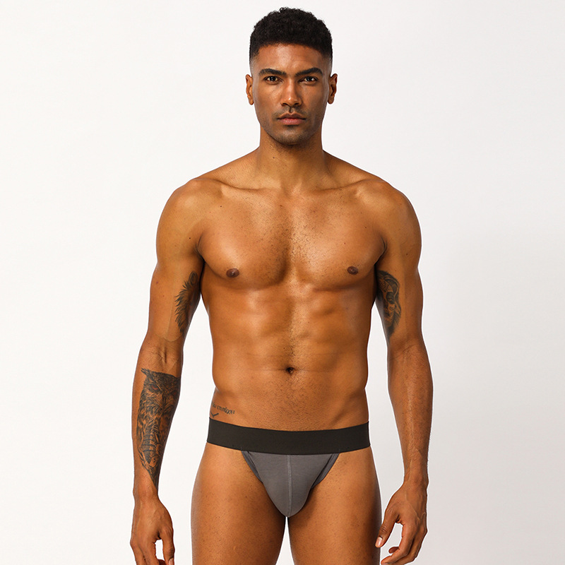 Full-blown pornographic T-shaped underwear men's pure cotton breathable triangles mens thong underwear