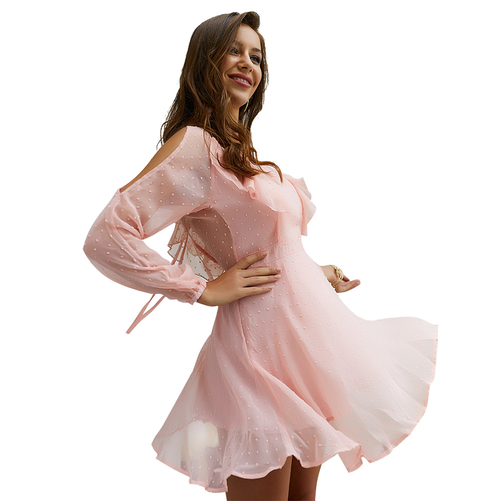 Chiffon Mesh Jacquard Sexy Women Dress Summer Sexy Dresses Party Night Club Dress 2019
