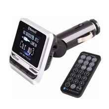 Bluetooth Car Mp3-плеер FM12B Беспроводной FM Передатчик ЖК-Экран автомобильный Комплект с USB Зарядное Устройство Поддержка TF Карт и Line-in AUX