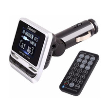 Bluetooth Car MP3 Player FM12B Wireless FM Transmitter LCD Screen Car Kit with USB Charger Support TF Card & Line-in AUX