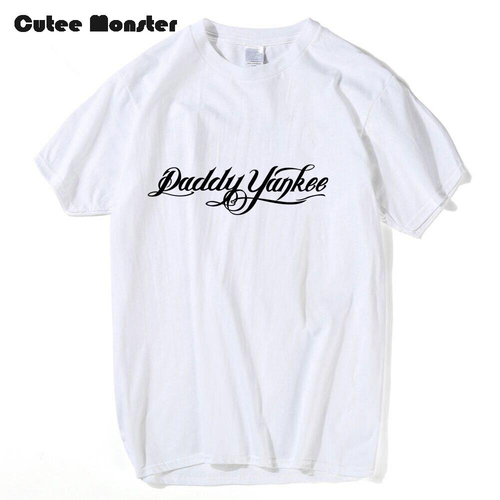 Daddy Yankee Fans T shirt Men Music Star Hip Hop Letter Printed Tees Puerto Rican singer Short Sleeve T-shirt 3XL