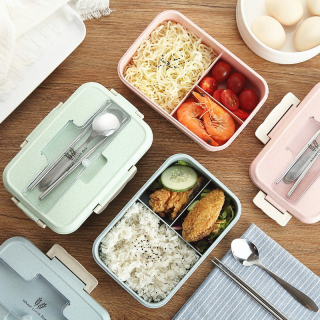 Convenient Large Capacity Eco-Friendly Plastic Lunch Box