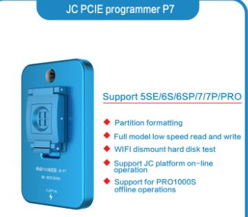 US $95 0 |JC P7 PCIE nand programmer wifi unlocking SYSCFG read write copy  data repair for iphone for ipad 4/5/6 harddisk repair underlyin-in Phone
