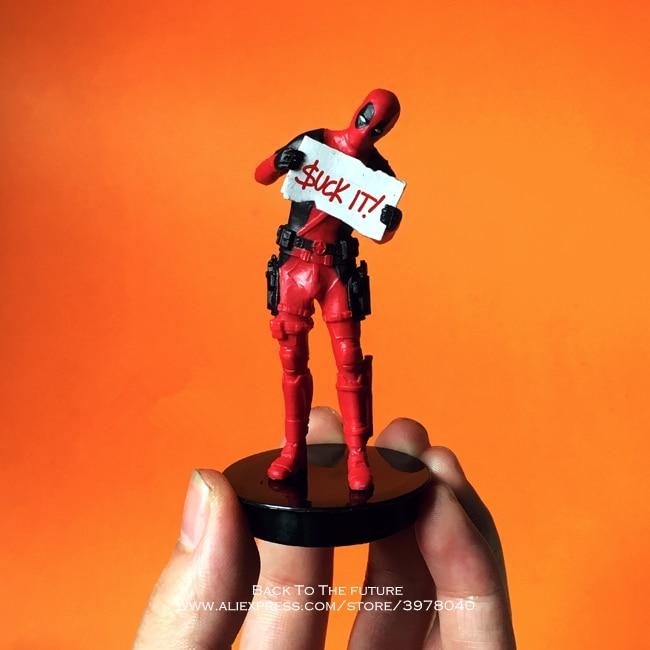 Disney Marvel X-Hommes 9 cm Deadpool 2 Action Figure Posture Modèle Anime Décoration PVC Collection Figurine Jouets modèle pour enfants